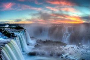 Waterfall-Sunset